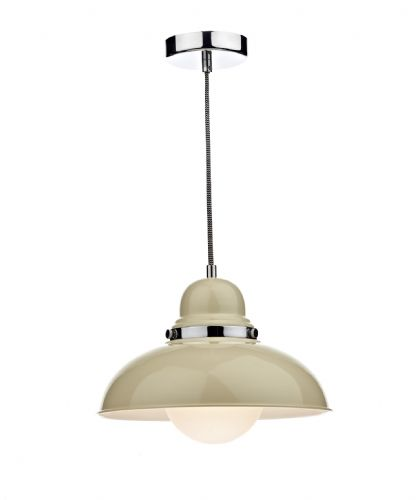 Dynamo 1-light Cream Pendant Ceiling Light (Class 2 Double Insulated) BXDYN0133-17